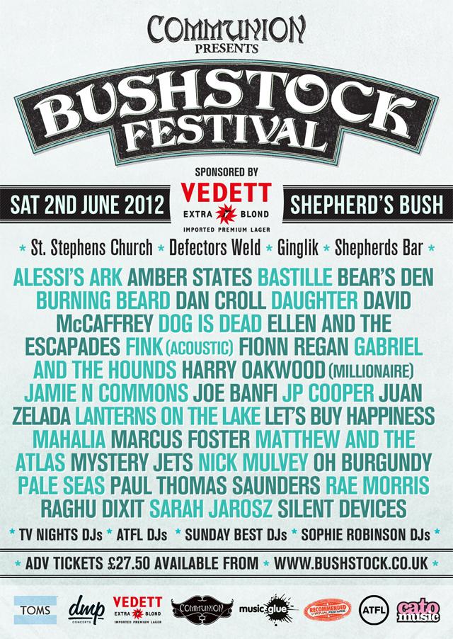 Bushstock 2012 Gig Poster