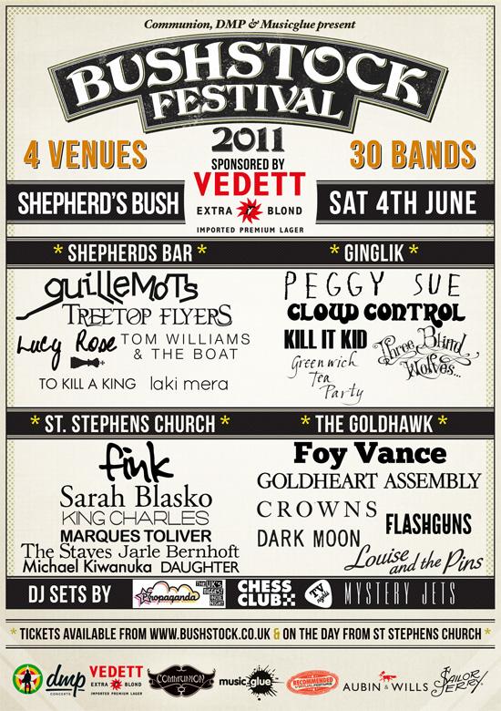 Bushstock 2011 Gig Poster